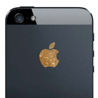 iPhone 5 Sparkling Gold Apple Decal