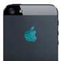 iPhone 5 Sparkling Turquoise Apple Decal