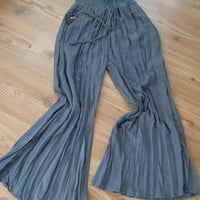 Handmade  Grey  -  Pants - Cotton