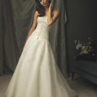 Crystals Beaded Tulle Designer Vintage Wedding Dress