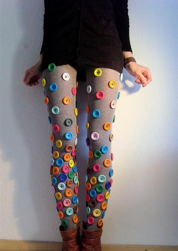 Buttoned Tights MADE TO ORDER by ThePetiteChouette on Etsy
