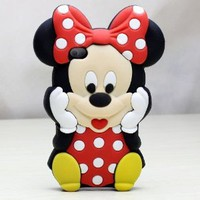 Deco Fairy Branded 3D Cute Cartoon Mouse Soft Silicone Case Cover: Cell Phones & Accessories