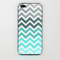 Tiffany Fade Chevron Pattern iPhone &amp; iPod Skin by Rex Lambo | Society6