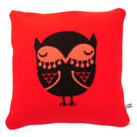Owl Knitted Cushion By Donna Wilson