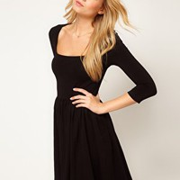 ASOS Skater Dress With Square Neck at asos.com