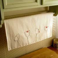 COTTON TEA TOWEL - chickens