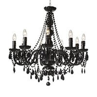 Jet Black Nine Arm Chandelier