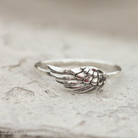 Wing Ring Sterling Silver Stacking