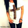 FREE SHIPPING - VIEW all pictures, Hipster Shirt, Off shoulder shirt,  Cheetah Shirt, Cheetah Cross Shirt, Hipster Girl (teen girls, women)