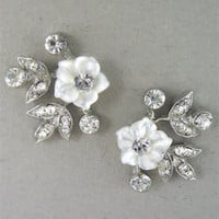 Regina B. -- RH1255|Tiny Bouquet Earrings | Wedding Accessories | Bridal Jewelry