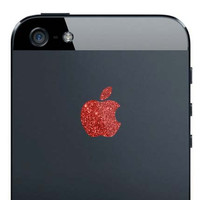 iPhone 5 Sparkling Ruby Red Apple Decal