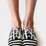 Bobby Stripe Lace-Up Shoe | Women&#x27;s Shoes - Sandals, Pumps &amp; More | American Apparel
