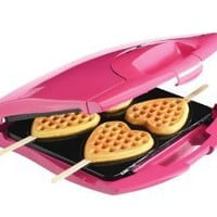 Babycakes Nonstick Waffle Maker Makes 4 Heart Waffles on Sticks: Amazon.com: Kitchen &amp; Dining
