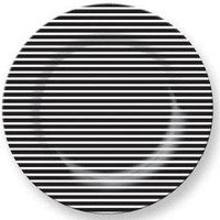 French Bull Black White Stripe Plates
