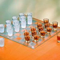 Shot Glass Checkers Set - Full Sized: Kitchen & Dining