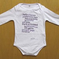 old person baby grow by sarah j miller | notonthehighstreet.com
