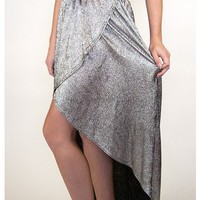 Silver Disco Hi-Lo Skirt | Sugar and Sequins