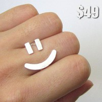 Happy Face Ring | smilingsilversmith