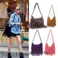 CHIC NEW! TASSEL CROSS BODY BAG SHOULDER BAG BAG-0014