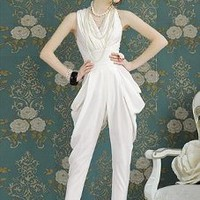 V-neck Simple Jumpsuits