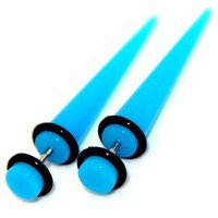 Fake Cheaters Illusion Tapers Expanders Stretchers Plugs (Color Turquoise, Shaft Size 16G or (1.2mm), Appearance 2G or 6mm, SOLD as a Pair): Jewelry: Amazon.com