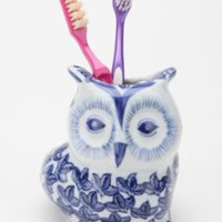 UrbanOutfitters.com > Floral Owl Toothbrush Holder
