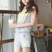 Korea Street Fashion Grey Sport Wear : Wholesaleclothing4u.com