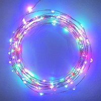 Starry Starry Lights - MultiColor Micro LED's - 20ft LED Light String with 120 LEDs on a Ultra Thin Copper String, Includes Power Adapter: Patio, Lawn & Garden