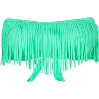 DAMSEL Fringe Bandeau Bikini Top 189061523 | Swimsuits | Tillys.com