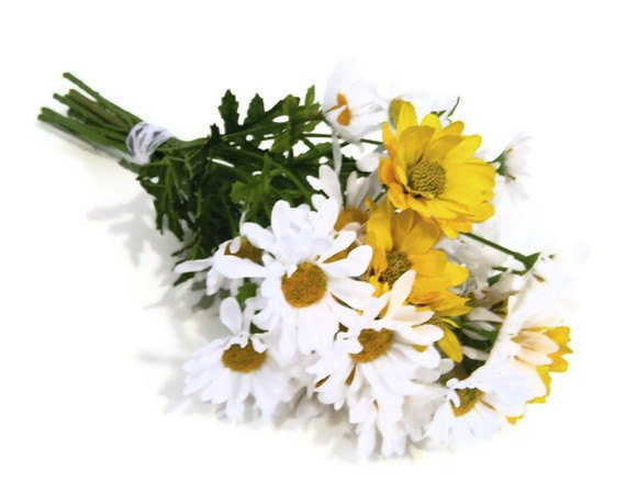 Sale wildflower daisy bouquet white from petalgem on etsy for Fall wedding bouquets for sale