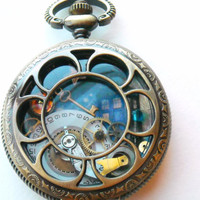 Doctor Who Pocket Watch Necklace CUSTOM PIECE