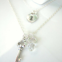 Sterling silver lock and key charm necklace from Snow White