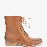 Zippered Lace-Up Boots