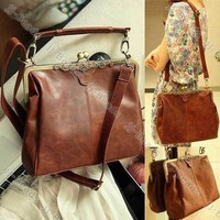Retro Vintage Lady Woman PU leather Shoulder Purse Handbag Totes Bag Satchel