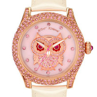Betsey Johnson &#x27;Bling Bling Time&#x27; Owl Dial Watch | Nordstrom