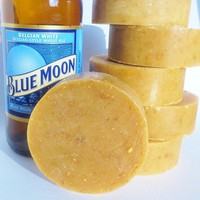 Blue Moon Orange Peel Exfoliating Beer Soap by SilverFirsFarm