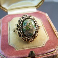 Cleopatra Hidden Compartment Ring Sarah Coventry