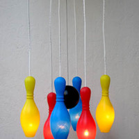 Bowling Pin chandelier