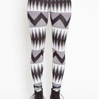 Tribal Stripe Leggings - NASTY GAL