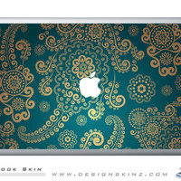 "Lace Pattern 5227 Macbook skin on top FREE SHIPPING 11"", 13"" or 15"""