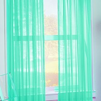 S. Lichtenberg 59 by 84-Inch Calypso Curtain Panel, Sky Blue