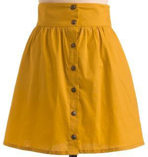 Craving Curry Skirt in Saffron | Mod Retro Vintage Skirts | ModCloth.com