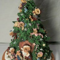 BOYDS BEARS Lighted CHRISTMAS TREE 2001 Danbury Mint Tabletop Decoration 13 Inch