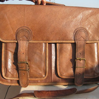Mens Laptop Bag Macbook Leather Messenger Bags 16 inch Handmade Vintage Leather Briefcase Shoulder Bags Satchel Retro look