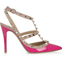 Valentino | The Rockstud patent-leather pumps | NET-A-PORTER.COM