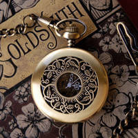 Brass Mechanical Pocket Watch Necklace 5 - $42.00 : RagTraderVintage.com, Handmade Indie Retro Accessories