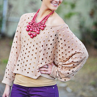 OOOOh So Trendy Sweater: Blush | Hope's