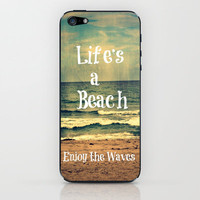 Life&#x27;s a Beach iPhone &amp; iPod Skin by Caleb Troy | Society6
