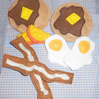 Felt Food - Deluxe Breakfast Set - Pancakes, Eggs, Bacon, Oranges