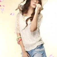 Wholesale Beautiful White Ladies Lace Blouses : Wholesaleclothing4u.com
